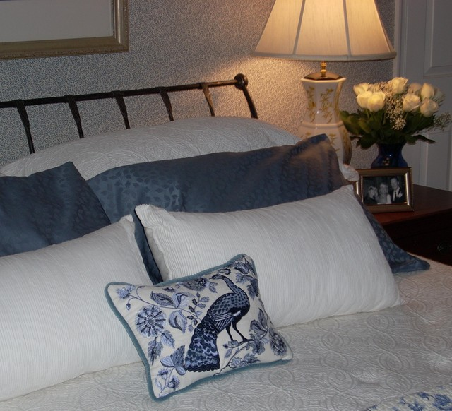 Blue & White Bedroom traditional-bedroom