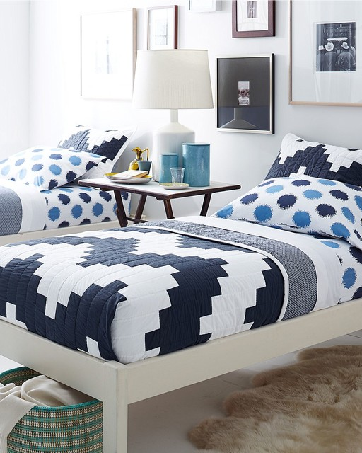 Blue And White Guest Room