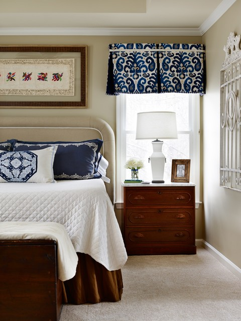 Blue And White Modern Bedroom And Bathroom Renovation