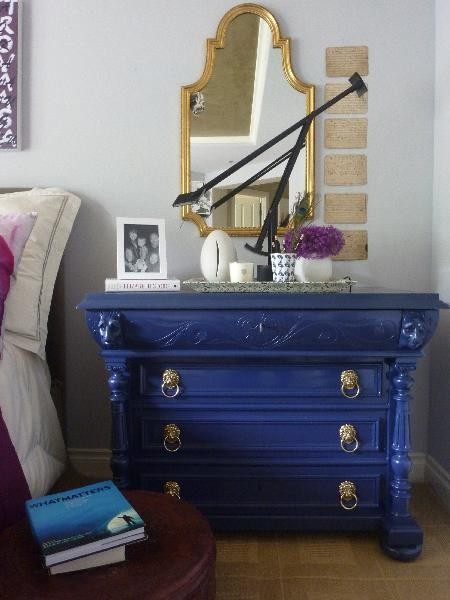 Blue Chest eclectic-bedroom