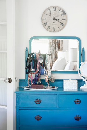 blue dresser eclectic-bedroom