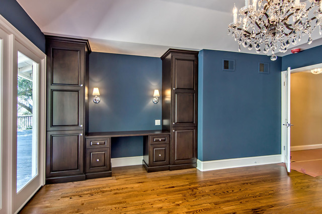 Blue Master Bedroom traditional