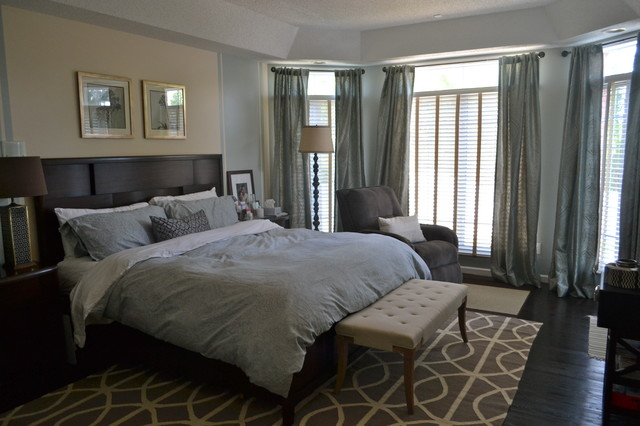 Blue master bedroom contemporary bedroom st louis Master bedroom ideas houzz