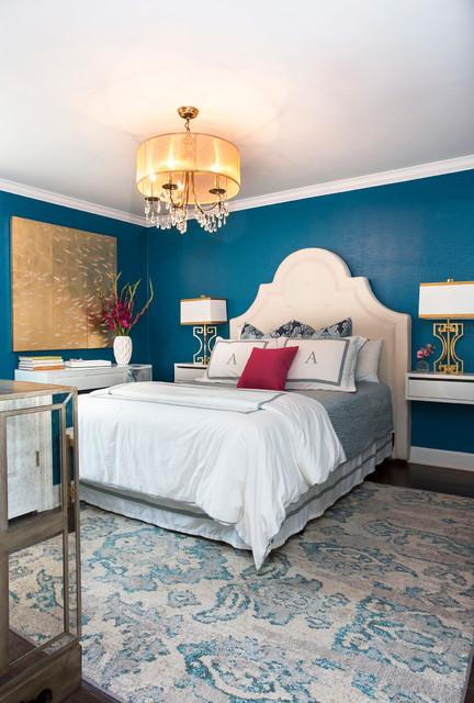 Blue nile guest bedroom transitional bedroom little for Blue guest bedroom ideas