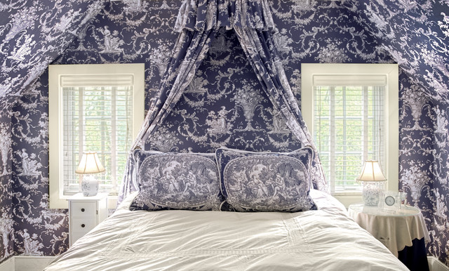 Blue Toile Bedroom - Traditional - Bedroom - Richmond - by MannKidwell