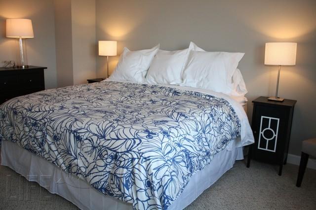 Blue White And Grey Master Bedroom Modern Bedroom