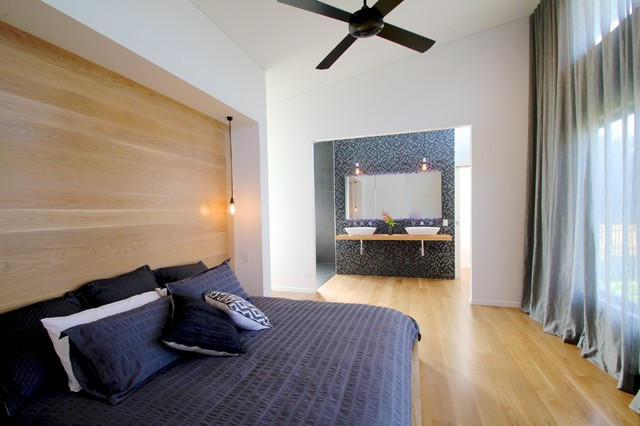 Bluff Road House contemporary-bedroom