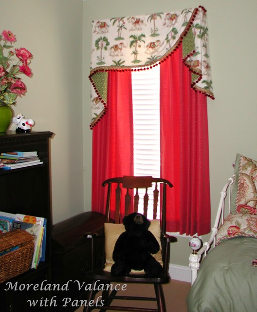 Board Mounted Valances Eclectic Bedroom