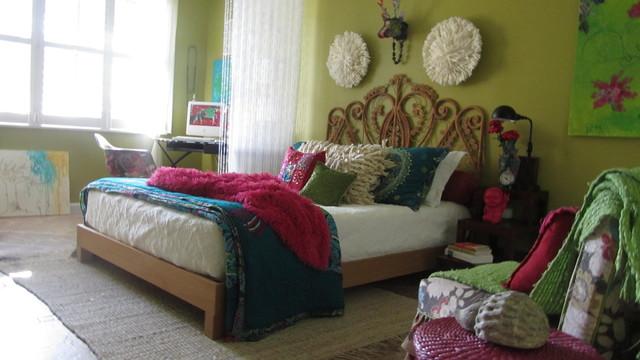 Boho - Eclectic - Bedroom - miami