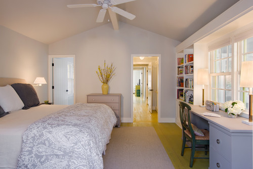 transitional bedroom interiors