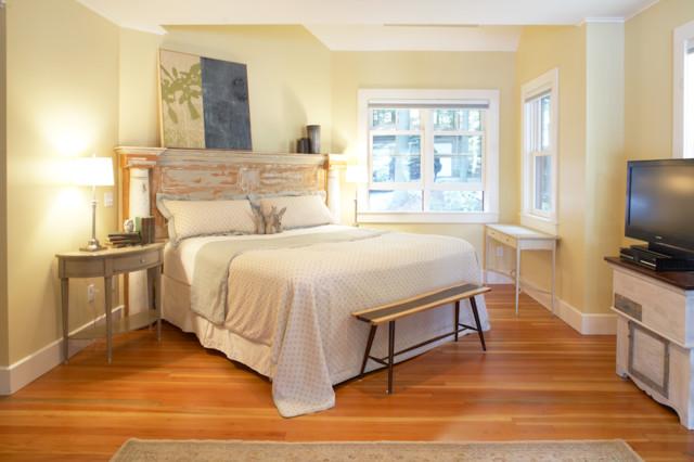 Boston Home Magazine Lake House Beach Style Bedroom Boston By Kate Maloney Interior Design