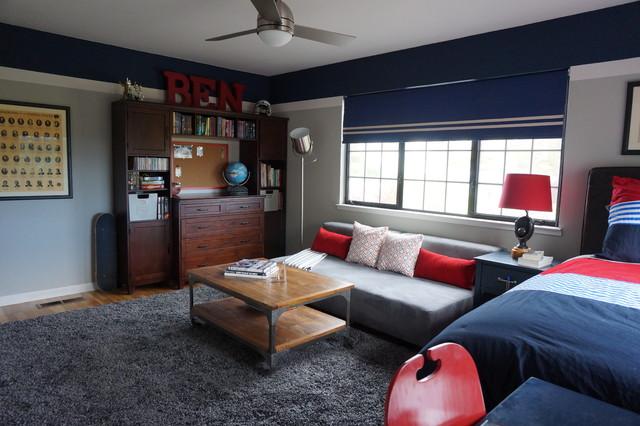 elegant bedroom photo in san francisco - Boy Bedroom