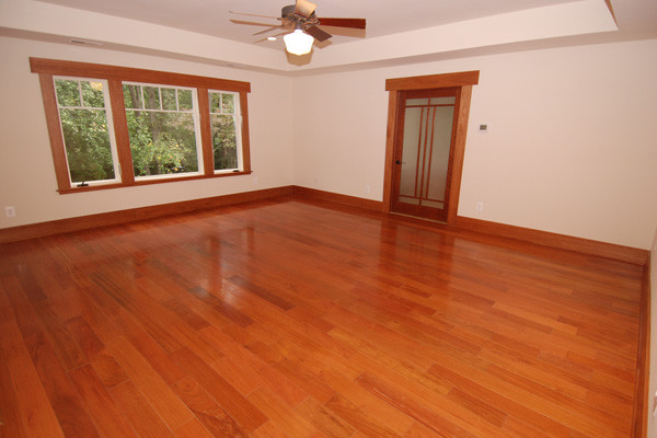 lovely cherry wood floor bedroom
