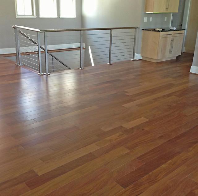 Brazilian teak cumaru contemporary bedroom raleigh for Wooden flooring dealers