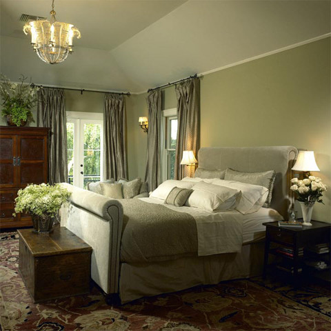 Frugal with a flourish vignette a phobic Brown and green master bedroom ideas