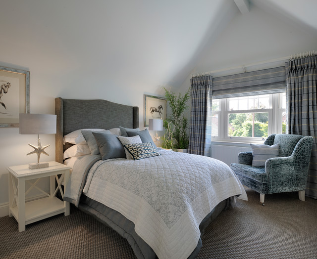 Bright & Calm Coastal Home - Coastal - Bedroom - London ... on Clare View Beige Outdoor Living Room id=38678