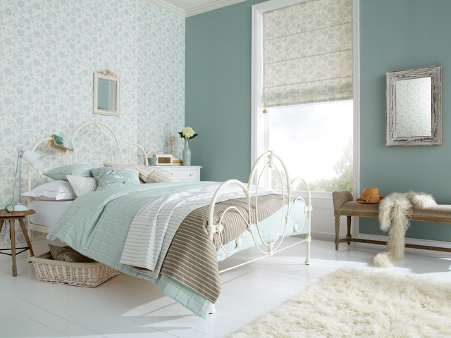 Bright and cheerful bedroom ideas iliv bird garden duck for Duck egg blue and grey living room ideas