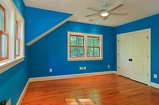 inspiration for a timeless bedroom remodel in dc metro - Blue Bedroom Walls