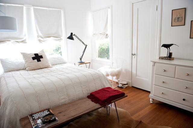 Bright white bedroom eclectic-bedroom