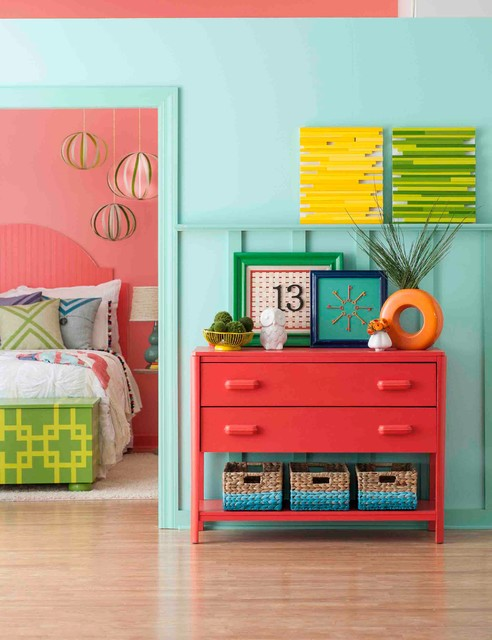 brighten up bedrooms with a colorful paint eclectic bedroom - Colorful Bedroom