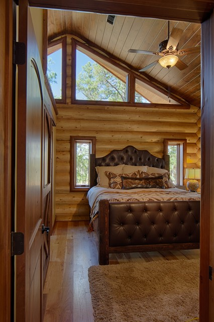 Broken bow ok rustic bedroom dallas by for 4 bedroom log cabin kits for sale