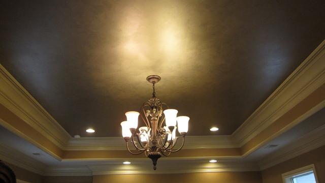 Bronze Metallic Ceiling Modern Bedroom Nashville