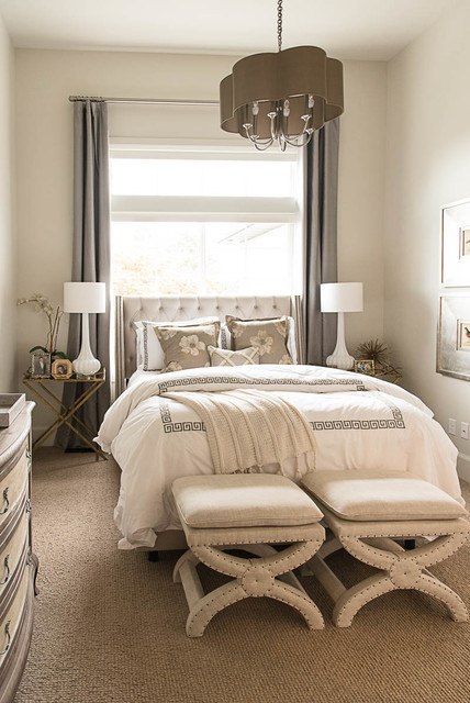 Example of an arts and crafts bedroom design in Salt Lake City