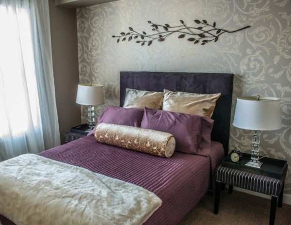 Brookfield Residential   Ivory showhome   Harvest Mosaic contemporary  bedroom. Brookfield Residential   Ivory showhome   Harvest Mosaic