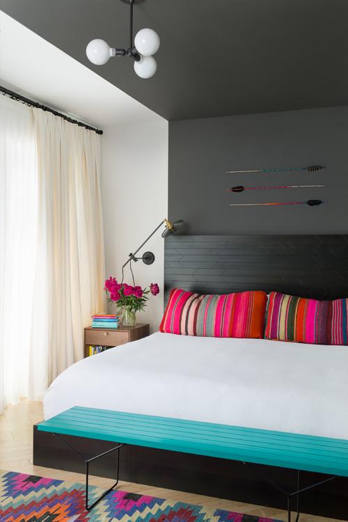 dormitorio decorado en negro