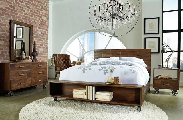 brooklyn industrial loft bedroom design. Black Bedroom Furniture Sets. Home Design Ideas