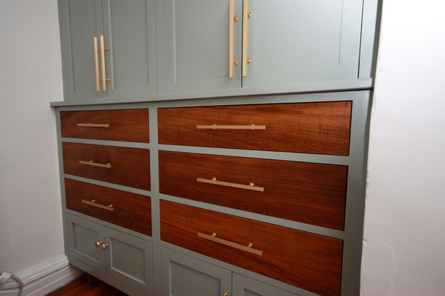 Brooklyn midcentury modern built in closet for Modern built in closet