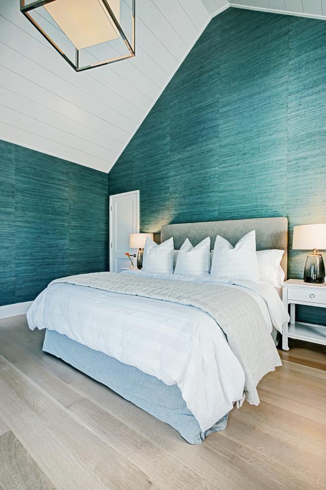 Beach style bedroom photo in Boston