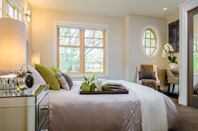 Brownstone contemporary-bedroom