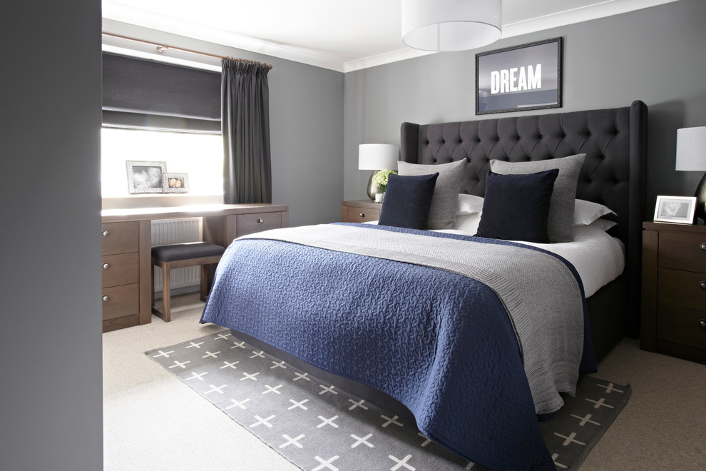 Example of a bedroom design in Buckinghamshire