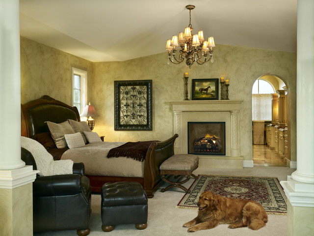 Buell Mansion Old World Stone Mantels And Fireplaces Master Bedroom Traditional Bedroom