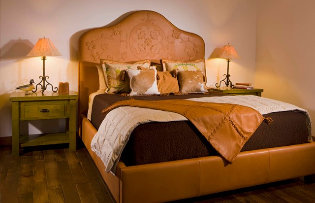 Buffalo Leather Furnishings Rustic Bedroom Other