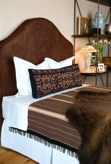 buffalo leather furnishings traditional bedroom