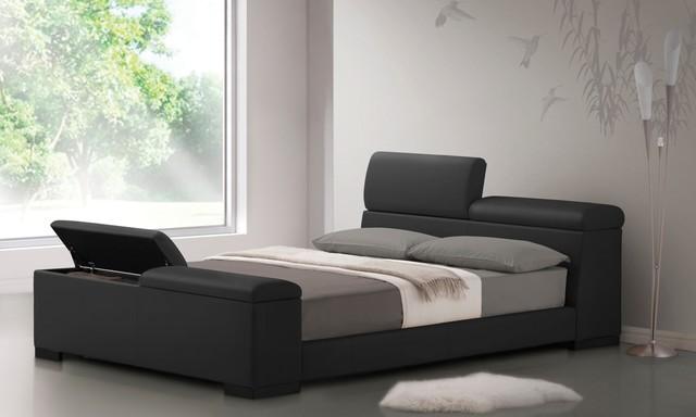 Etonnant Bugatti Queen Size Storage Bed In Black Modern Bedroom