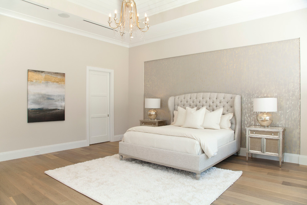 Inspiration for a transitional bedroom remodel in Miami