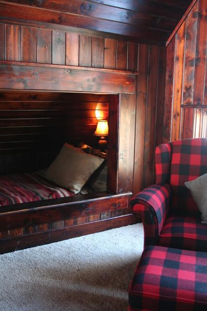 Built In Bed rustic-bedroom