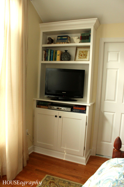 Built In Bookshelves In Our Master Bedroom Tv With