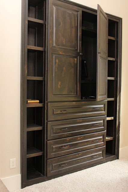 Built in cabinets - Rustic - Bedroom - atlanta - by Crossed Chisels