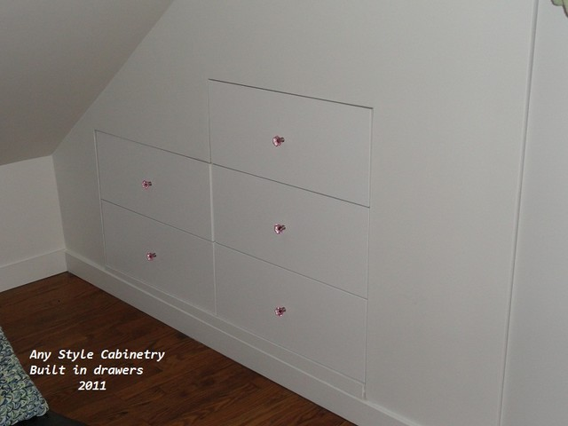 Built in drawers traditional bedroom chicago by