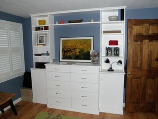 Built In Dresser Traditional Bedroom Portland Maine By Closetplace