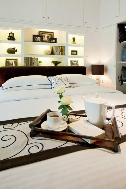 Built-in Headboard contemporary-bedroom