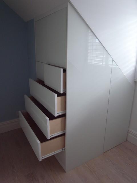 Built In Loft Storage Essex Contemporary Bedroom Other Metro
