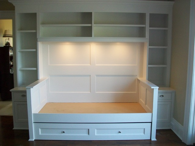 Built In Trundle Bed Traditional