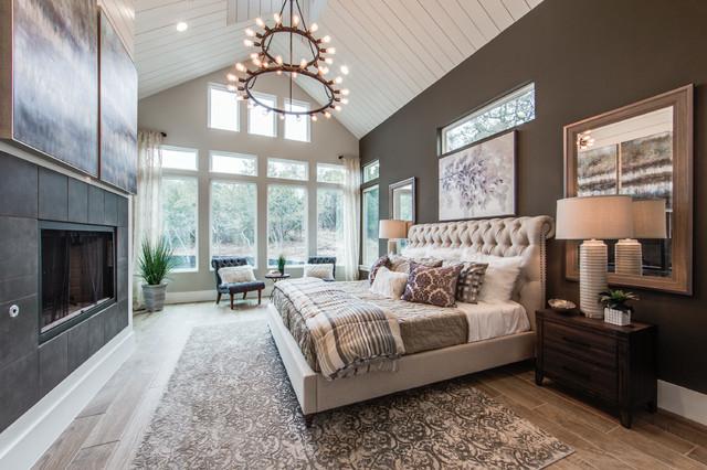 Bulverde Model House farmhouse-bedroom