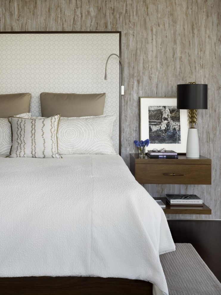 Trendy dark wood floor bedroom photo in San Francisco