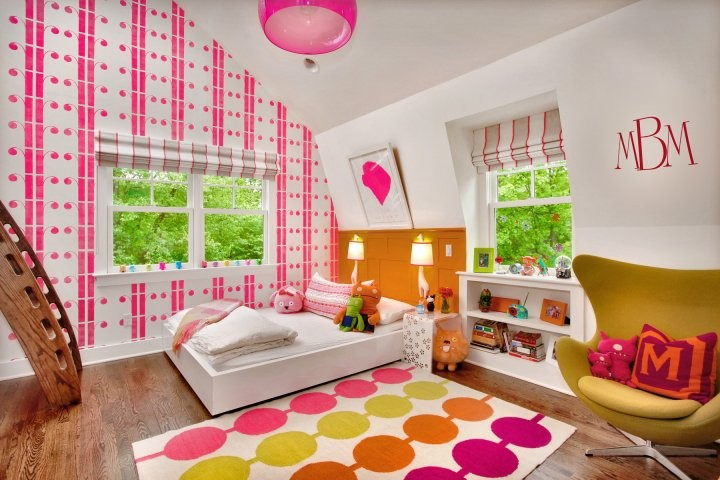 Example of an eclectic bedroom design in Other